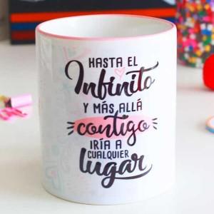 """Taza para regalar a tu love """"Hasta el infinito y más allá"""""""