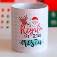 """Taza regalo navidad """"Mi regalo más grande eres tú"""""""