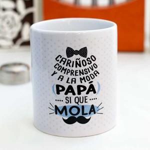 """Taza de regalo papá """"si que mola"""""""
