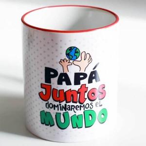 """Taza regalo Papá """"Juntos dominaremos el mundo"""""""