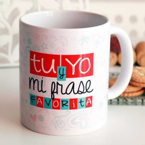 "Taza In Love  "" Tu y Yo mi frase favorita"""
